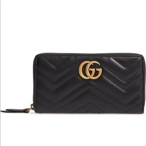 GG Marmont 2.0 Zip Around Wallet